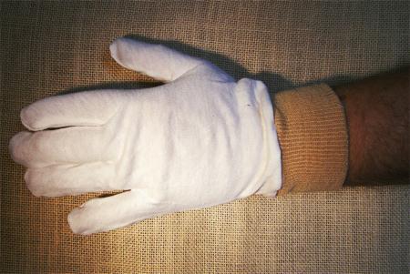 Unterziehhandschuh mit Strickbund für Falknerhandschuh