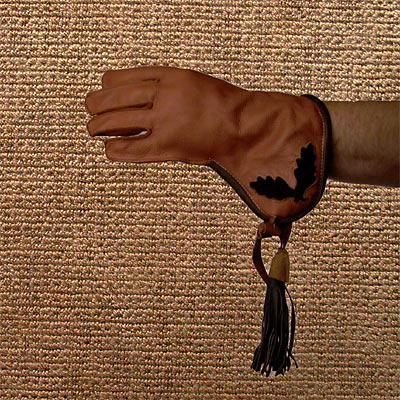 Falkenhandschuh aus gefettetem Rinderleder